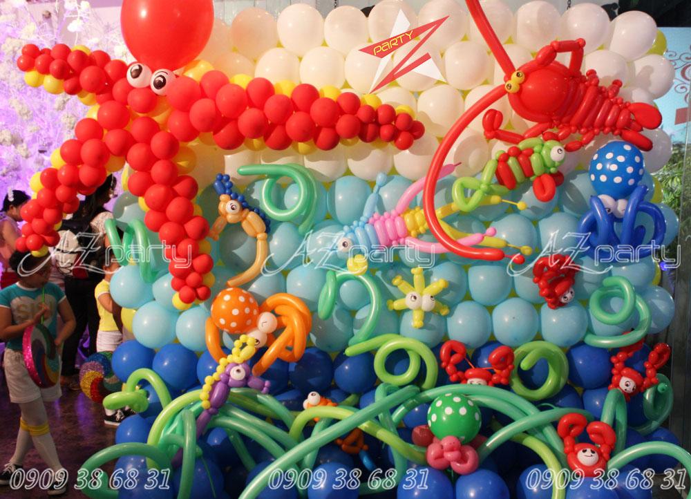 Trang trí bong bóng sinh nhật chủ đề đại dương
