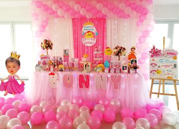 Trang trí sinh nhật tại nhà với gói PLATINUM 01 giá 3.999.000đ