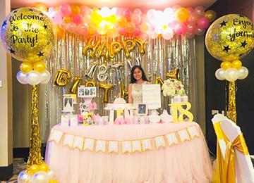 Trang trí sinh nhật hotgirl 18 tuổi