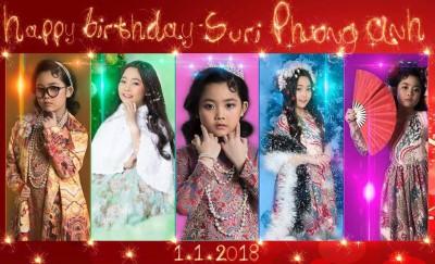 Sinh nhật bé Suri Phương Anh phong cách cô Ba Sài Gòn